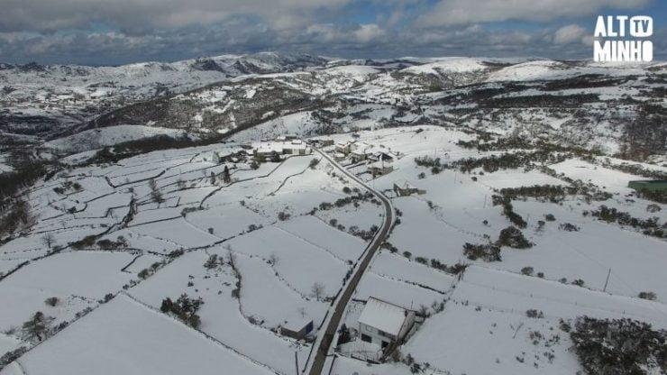 Aviso Amarelo queda de Neve Viana